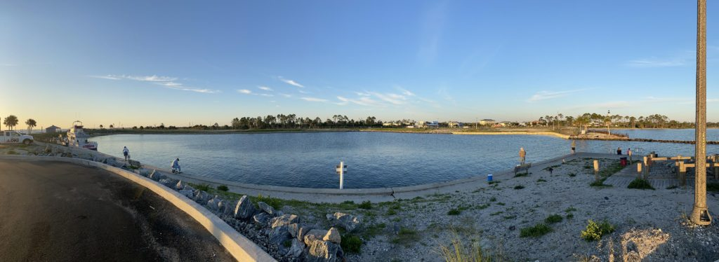 Panorama of empty Port St. Joe marina