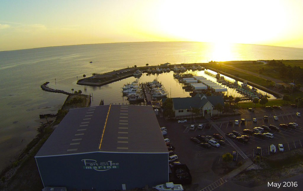 Port St. Joe Marina in full operation before being destroyed by Hurricane Michael